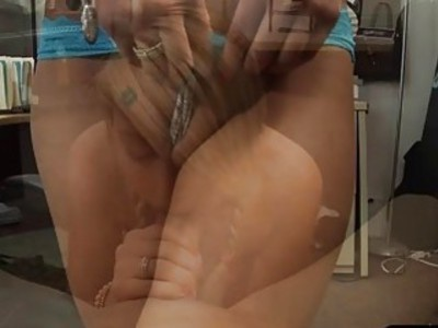 Sexy amateur blonde babe gets pussy fucked for some money