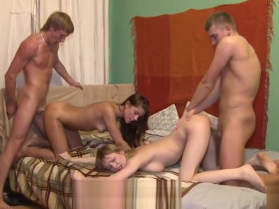 18 Videoz - Best friends share their GF's pussies