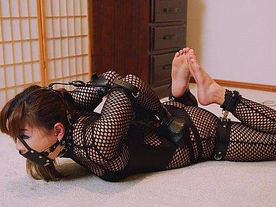 Mina is locked in her new cuffs part 2