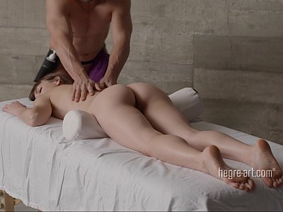 Close-up massage with fingering