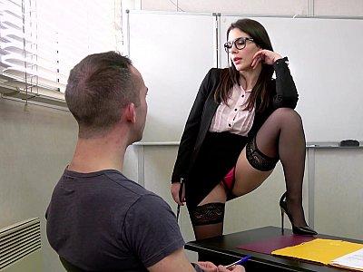 Wild DP threesome with teacher