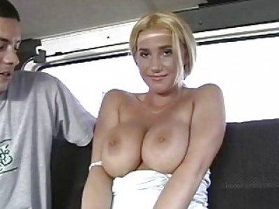 Ribald fucking in a gangbang car