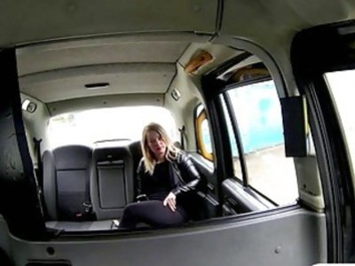 Hot amateur blonde passenger screwed in the backseat