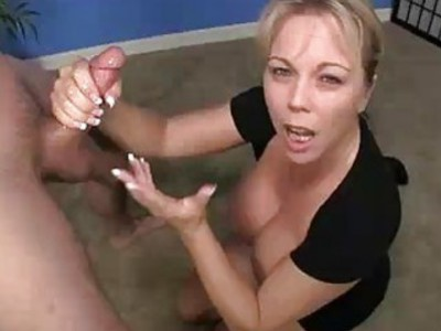 Cock Jerking Babe Meets A Guy With Huge Load