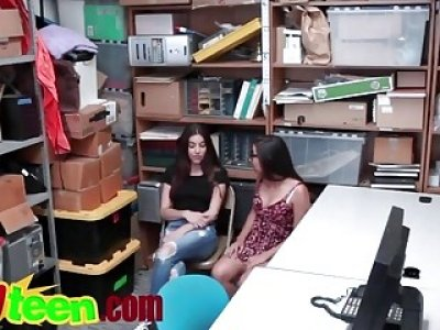 Teens Arielle And Jasmine Get Banged For Stealing