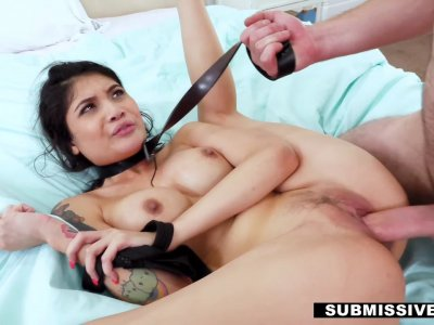 Asian stepdaughter punished by daddy's dick and belt