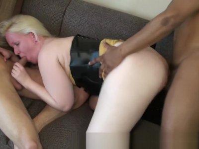 Arinna Cum gets a DAP from 2 big cocks