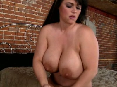 Fat and chubby milf Indianna Jaymes fucks doggy style
