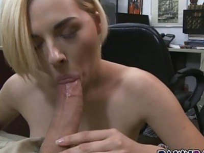 Sexy blonde babe walks away satisfied for a stack of cash after got pounded