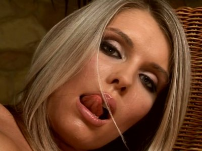 Sweet blonde Dominique gets all her holes toyed