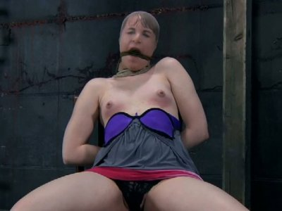 Vulnerable slut Bronte gets treated bad in BDSM way