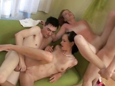 2 wet holes get roughly penetrated by hard rods