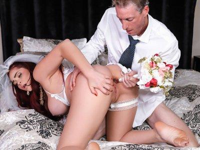 Skyla Novea & Ryan Mclane in The Cum Spattered Bride - RKPrime
