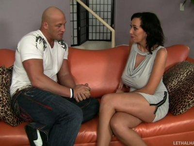 Kinky slut Alia Janine gives a rimjob to Christian XXX