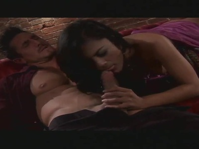 Hot brunette Kaylani Lei suck fat dick and gets fucked