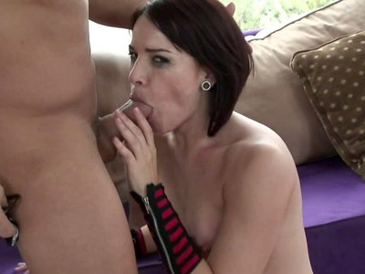 Sloppy Dana gets her anus loped from behind