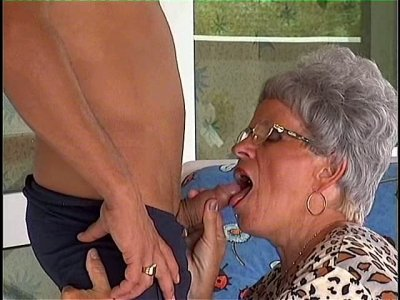 Rapacious granny Adele gives a blowjob to 2 inch sausage