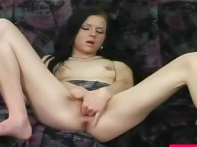 Brunette big pussy hole digging deep with vibrator recorded on spy camera