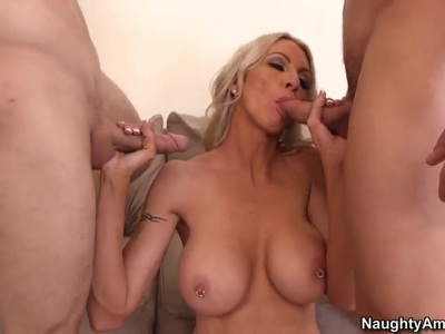 Emma Starr pleasures Johnny Castle and Michael