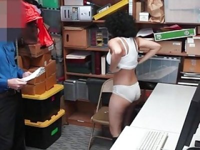 Maya Morena stealing merchandise and fucked in LP office